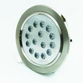 LED beépíthető spotlámpa, 15W, kerek, meleg fehér