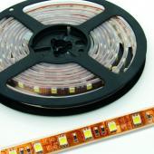 LED szalag, 5050, 30 SMD/m, vízálló, sárga fény -