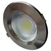 LED spotlámpa, 30W, COB, inox, kerek, semleges feh