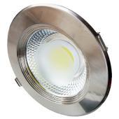 LED spotlámpa, 15W, COB, kerek, Semleges fehér fén