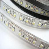 LED szalag, 3528, 120 SMD/m, vízálló, szilikon véd