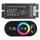 Érintésérzékeny RF RGB LED vezérlő 12V/24V LED szal...