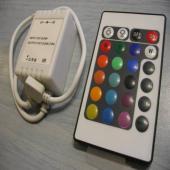 Távirányító LED RGB szalaghoz 72W, 6A, 12V, 24 nyo
